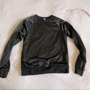 American Apparel Jersey Lined Long Sleeve Top